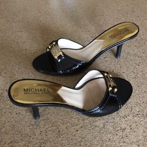 Michael Kors patent leather mules